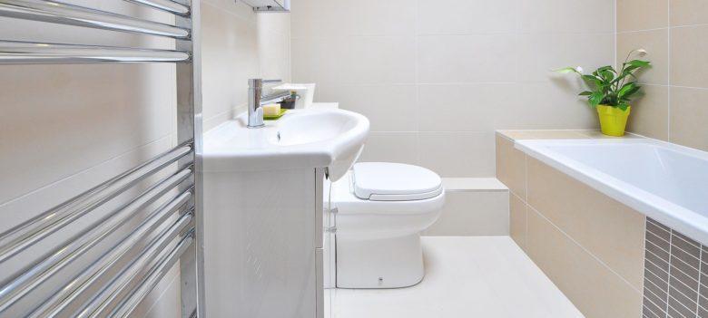 Toilette im Bad